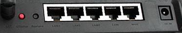 Asus WL-520GC разъемы