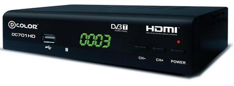 Цифровой DVB-T приёмник DC701HD