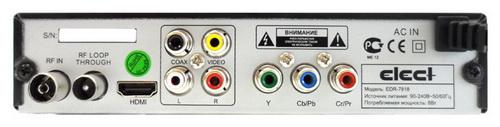Elect EDR-7818 разъёмы