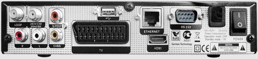 GI S8120 задняя панель