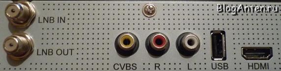 GS 8306 разъёмы