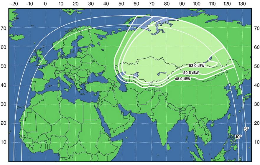 Карта покрытия Триколор ТВ Сибирь