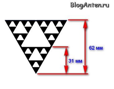 Рисунок фрактальной антенны
