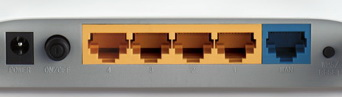 TP-Link MR3420 разъемы