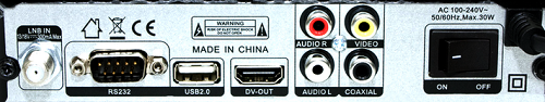 Tiger 4050 HD разъемы