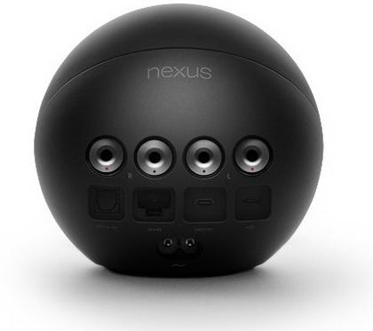 Google Nexus Q вид сзади