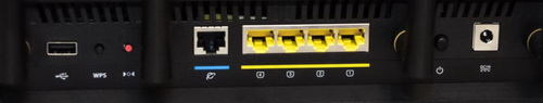 Asus RT-AC3200 разъемы