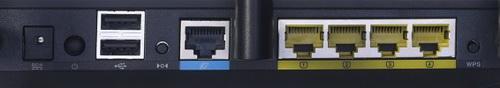 Asus RT-N66U разъемы