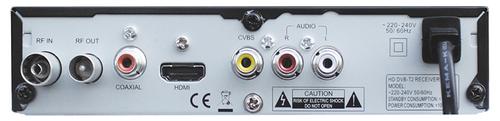 Lumax DVT2-4110 HD разъёмы