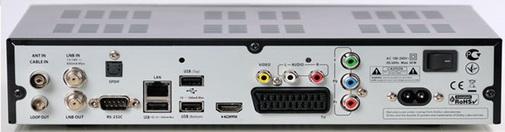 OpenBox SX9 Combo HD разъёмы