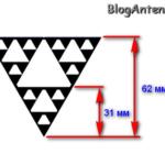 Фрактальная wi-fi антенна
