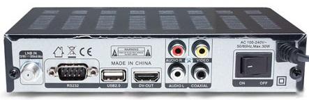 Tiger 4100 HD разъемы