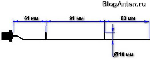 Схема конструкции Wi-Fi антенны